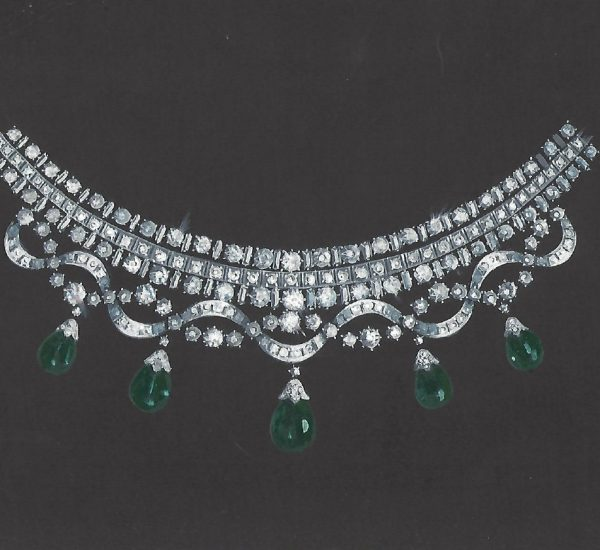 Collar de esmeraldas y diamantes