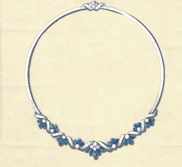 Collar de zafiros y diamantes